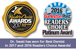 Dr. Swati has won for Best Dentist in the Reader's Choice Awards!