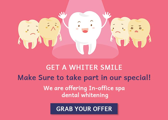 The Dentistry at LaSalle is  offering In-office spa dental whitening.